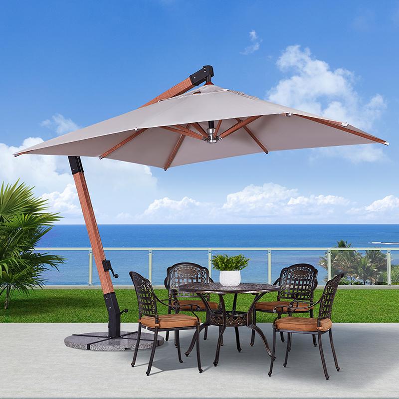 木纹铝吊伞